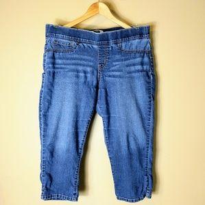 LEVI'S plus size 18 cropped capri blue jeans